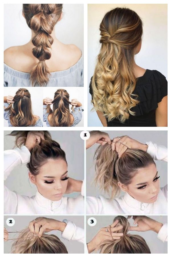 Quick Easy Updos For Long Thick Hair Easyhairstyles Easyhairstylestodoathome Thick Hair Styles Easy Updos For Long Hair Easy Hairstyles