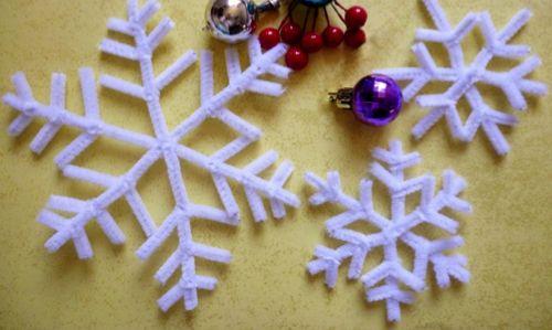 Hoy en manualidades aprender a hacer te traemos esta idea - Copos de nieve manualidades ...