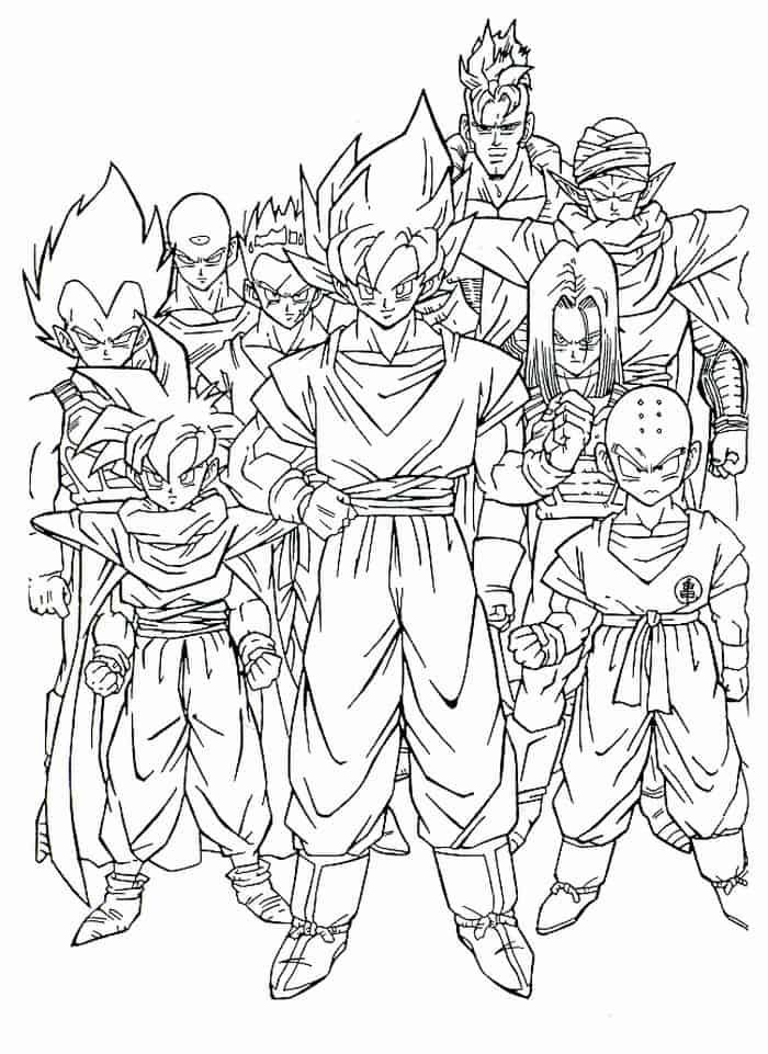 Goku Coloring Pages In 2020 Dragon Coloring Page