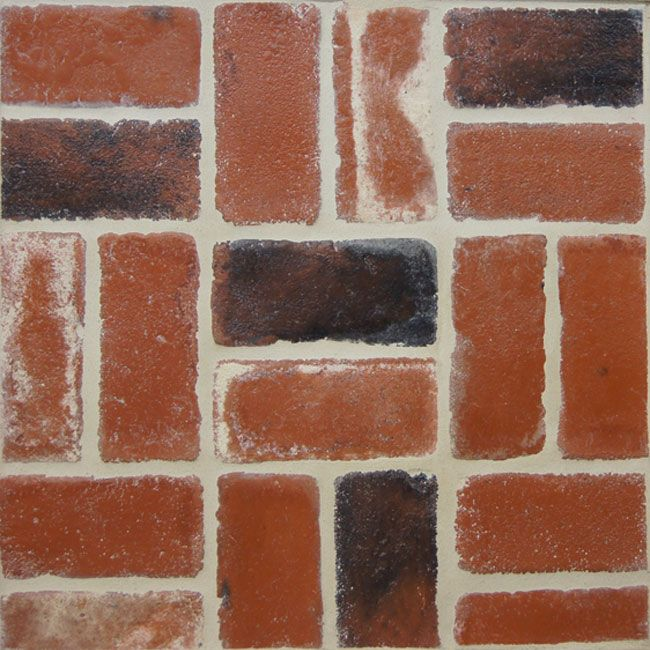Pottery Brick Floor Wurm: Alpha Brick For Floors, Used Red. Faux Bricks (actually