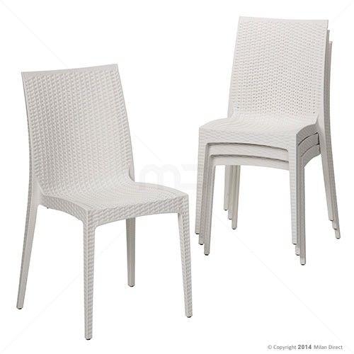Set of 4 - Eva Dining Chair - White