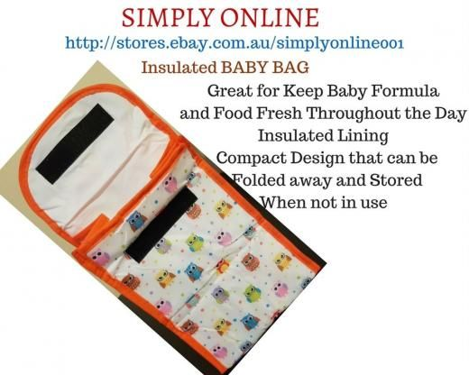 1 Piece Insulated Baby Bag - Bubba Bags Keep Food And Milk Fresh Kids Lining