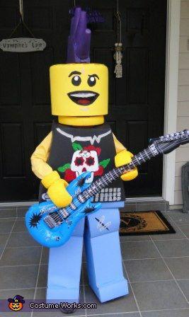 Lego Guitar Man costume