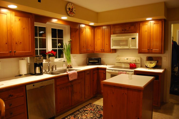 Old Kitchen With Small Floating Island Kitchen Transformation 2013 Pinterest Floating