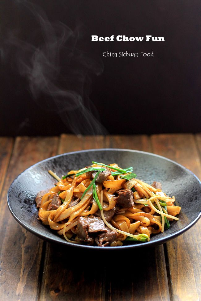 Beef Chow Fun Pan Fried Rice Noodles For A Kosher Version Replace The