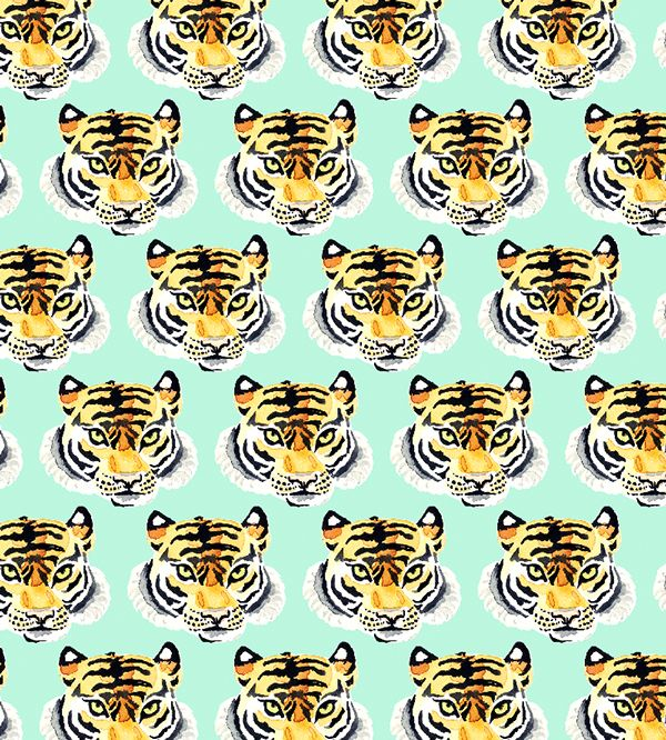 Le tigre. Grrrrrr!!!! by Charuca Vargas, via Behance