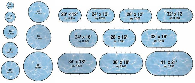 36 best traditional fiberglass pools images on pinterest for Home swimming pool dimensions
