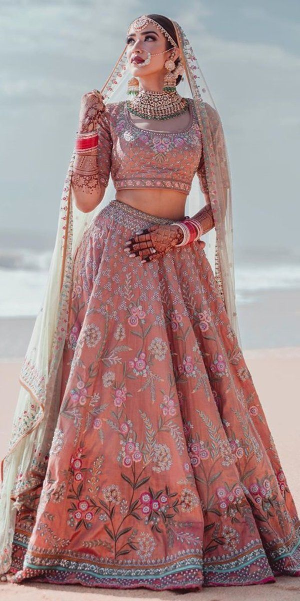 30 Exciting Indian Wedding Dresses That You Ll Love Indian Bride Outfits Indian Wedding Dress Wedding Lehenga Designs