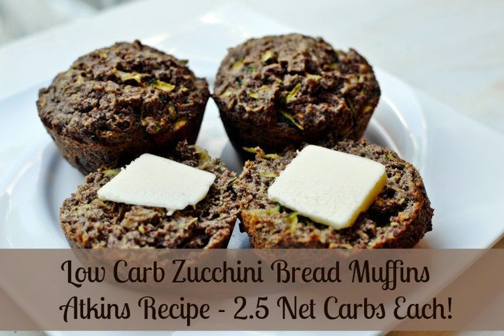 delicious low carb recipe for zucchini bread muffins! Only 2.5 Net Carbs ea! ‪#‎atkins‬ ‪#‎lowcarb‬ ‪#‎keto‬ ‪#‎lchf‬ ‪#‎sugarfree‬