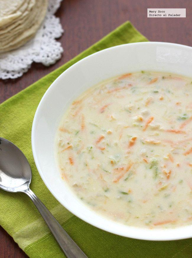 Sopa Cremosa de zanahoria y calabacitas. Receta