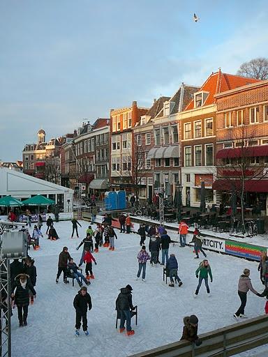 Leiden, The Netherlands, in winter