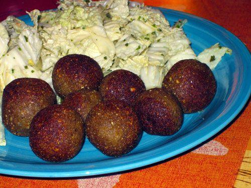 Recette de falafel vegan ou végétalien à base de kasha (graines de sarrasin décortiquées et torréfiées)