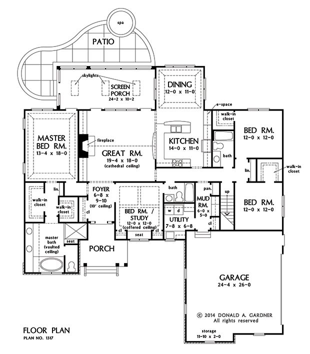 Plan of the week ranch and hillside walkout house for 2500 sq ft ranch house plans