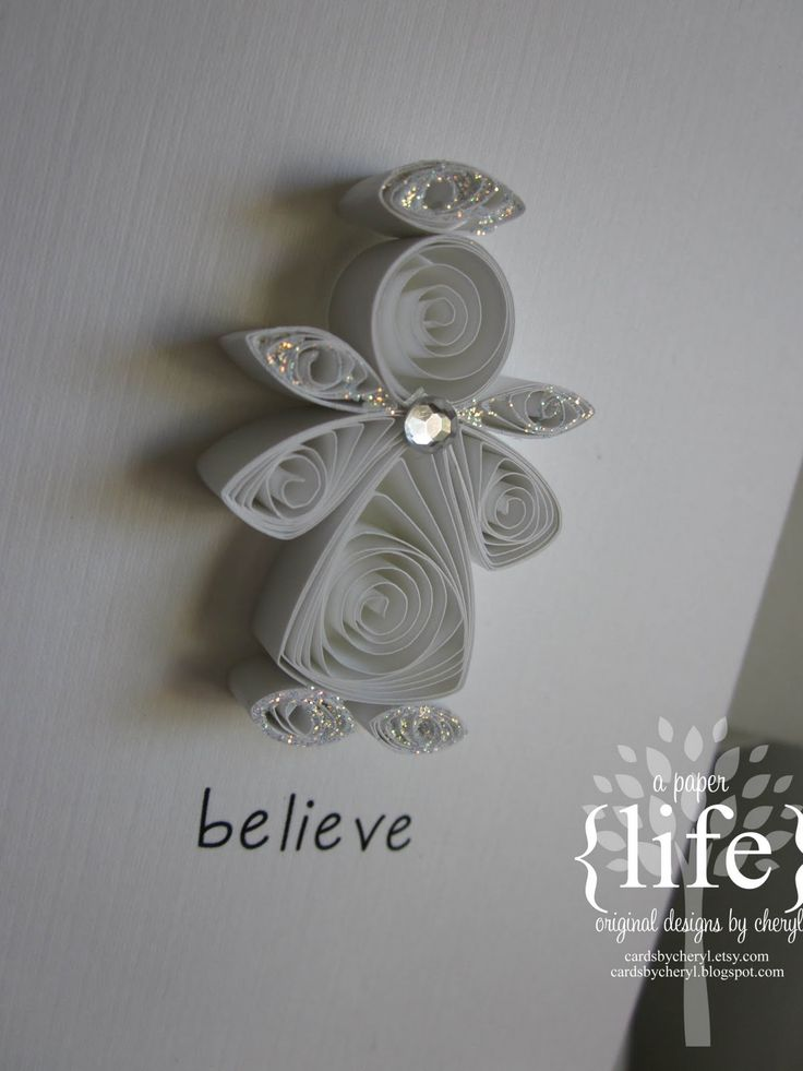 quilled white angel