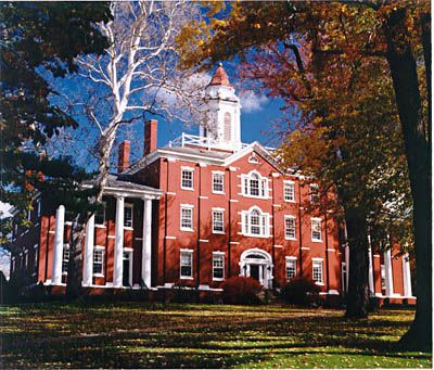 Allegheny College - Oldest College in continuous existence under the same name west of the Allegheny Mountains.  Founded in 1815.  Meadville, PA