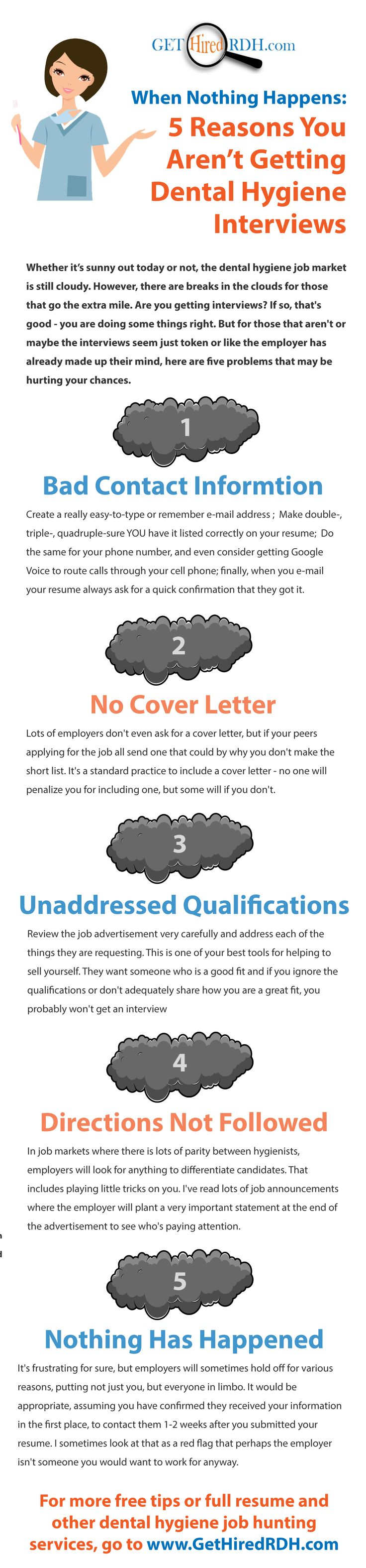 Dental Hygiene Cover Letter Archives Rdh Resumes And Career When Nothing  Happens Reasons You Aren Getting Interviews
