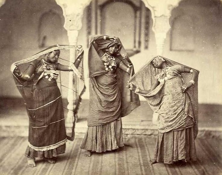 Beautiful vintage photo of Indian women