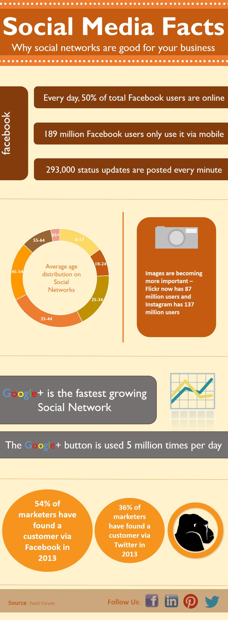 2013 social media facts - why social networks are good for your business. #FridayFacts #Infographic