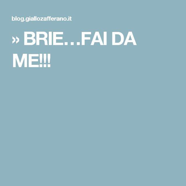 » BRIE…FAI DA ME!!!
