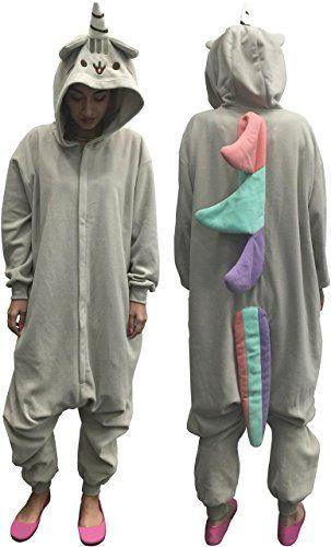 9a4effab38a3 Pusheen Kigurumi Unicorn Adult Hooded Zip Up One Piece Suit (One ...