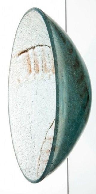 Ludvika Smrčková (1903 – 1991) Mísa, 40. léta  hutně tvarované čeřené sklo, pulegoso, foukaný pigment | ø 20,5 cm | Českomoravské sklárny, Krásno nad Bečvou
