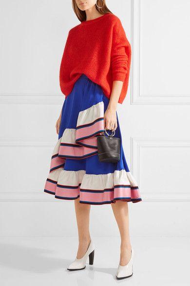 Emilio Pucci   Ruffled silk skirt   NET-A-PORTER.COM