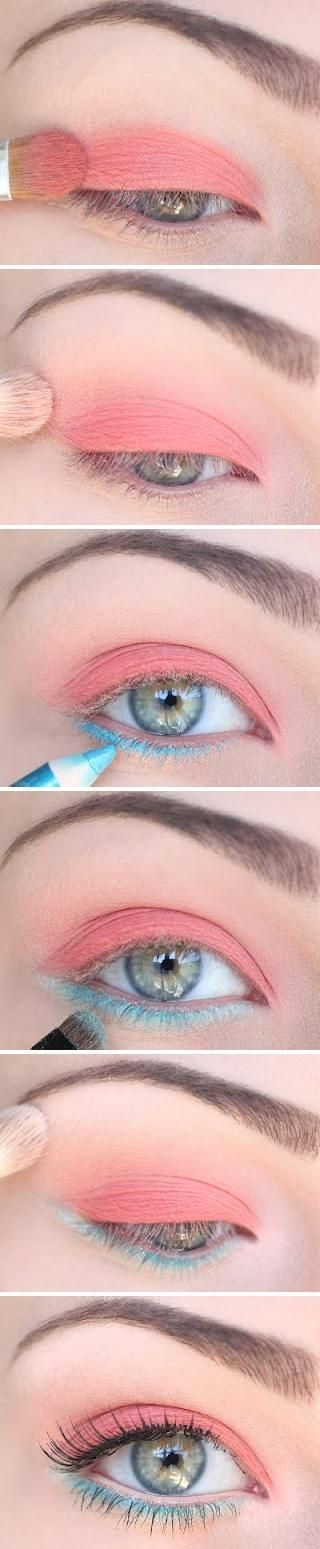 Spring shades for green eyes, am definitely going to have to try this look out and see how i can work it for my hazel eyes...