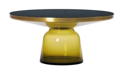 Table basse Bell Coffee / Ø 75 x H 36 cm Jaune topaze / Laiton - ClassiCon