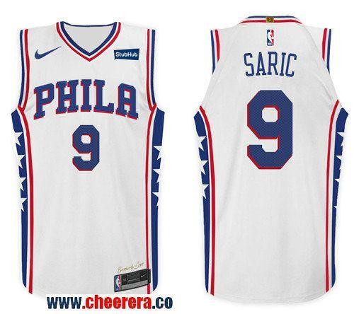 528736c90 Men s Nike NBA Philadelphia 76ers  9 Dario Saric Jersey 2017-18 New Season White  Jersey