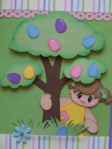 paper piecing easter   The-Hunt-Easter-Girl-2-2-Premade-Scrapbook-Pages-Paper-Piecing-Layout ...