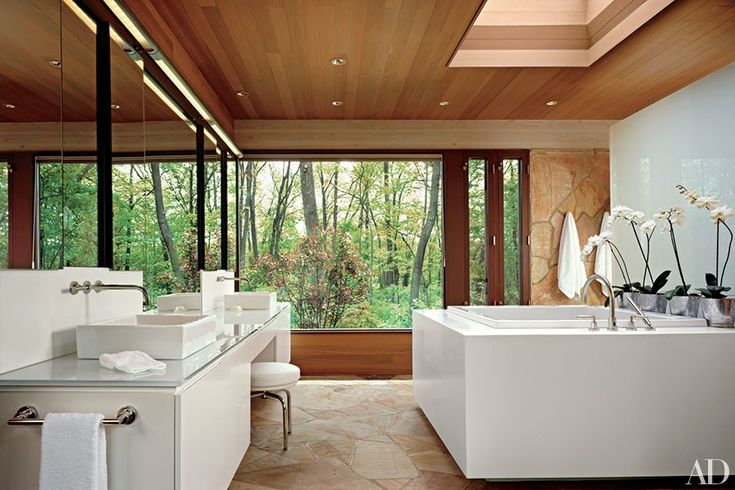 400 best images about bathroom on pinterest bathroom for Architectural digest bathroom ideas