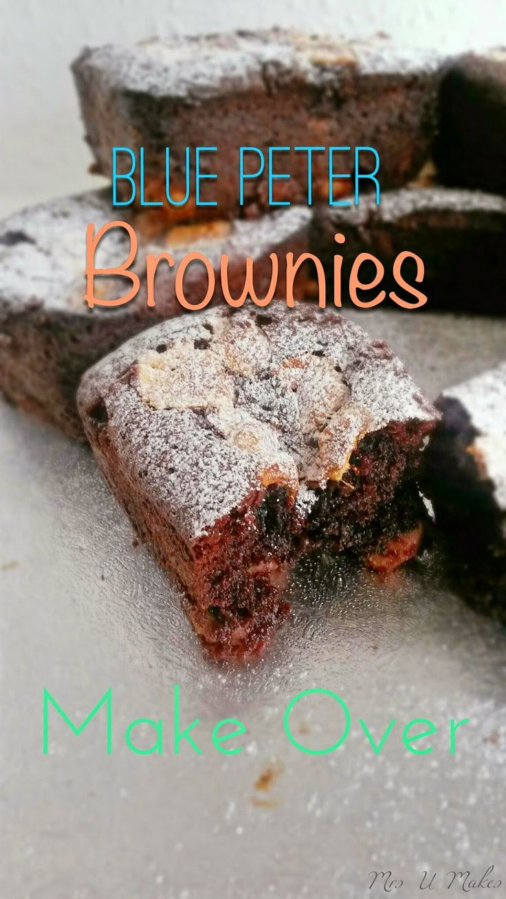 These are the best brownies I have ever tasted, originally made on Blue Peter. Now over 10 years later I've given them a makeover. @MrsUMakes #bluepeter