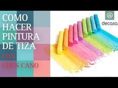 ¿Cómo hacer pintura de tiza?   El truco de Chus Cano de Reciclarte - YouTube