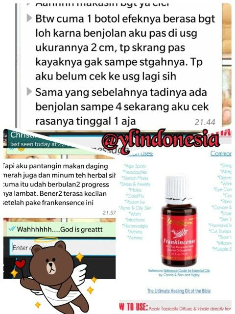 Testi_ frankincense oil #youngliving#essential oil#testimony#frankincense#ylindonesia