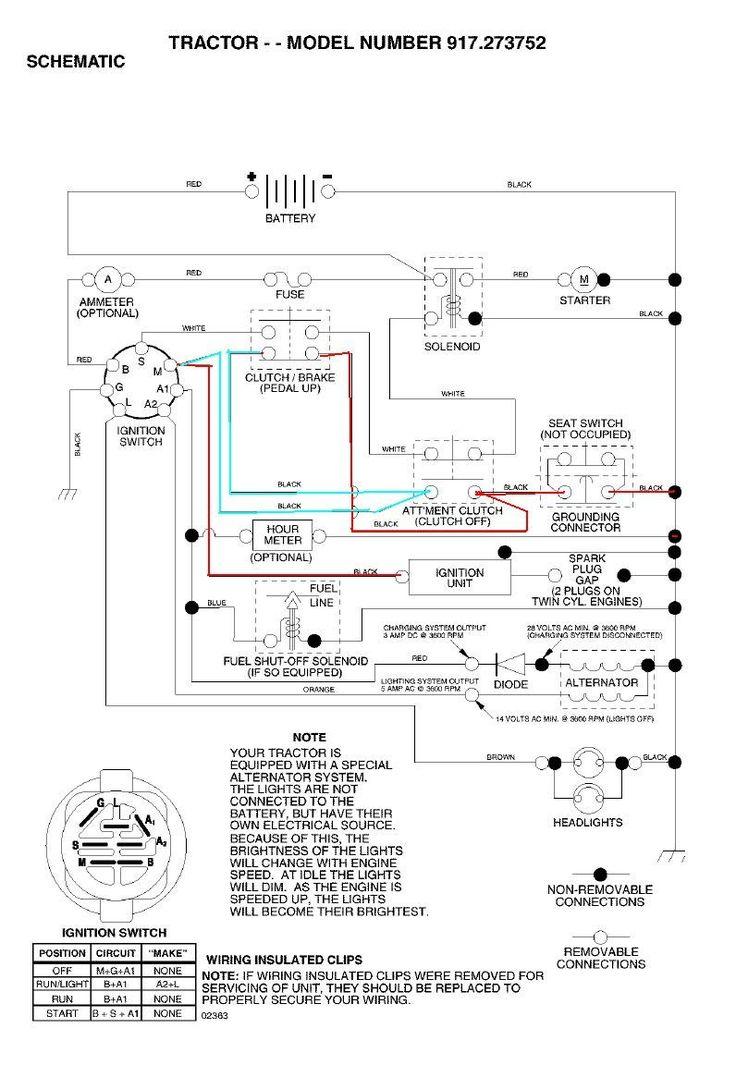 Craftsman Lawn Mower Wiring Diagram, Craftsman Lawn Tractor Ignition Wiring Diagram
