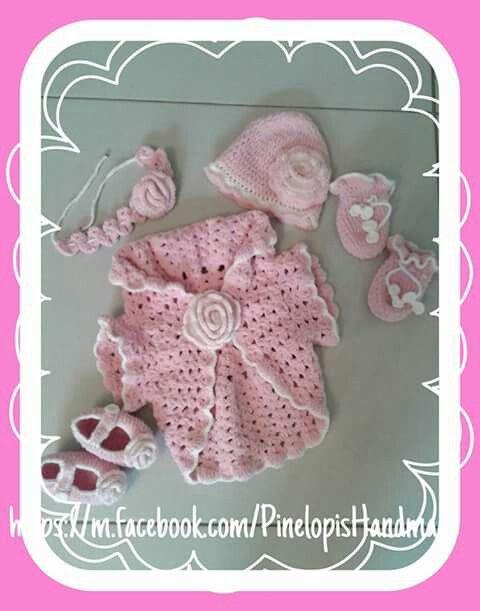 Crochet girlie set!  https://m.facebook.com/PinelopisHandmade/