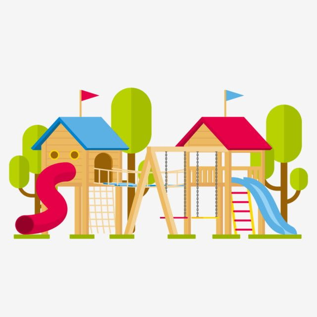 رسوم متحركة طفل حديقة ملاهي منزل صغير Png و Psd Cartoon Park Amusement Park Cartoon House