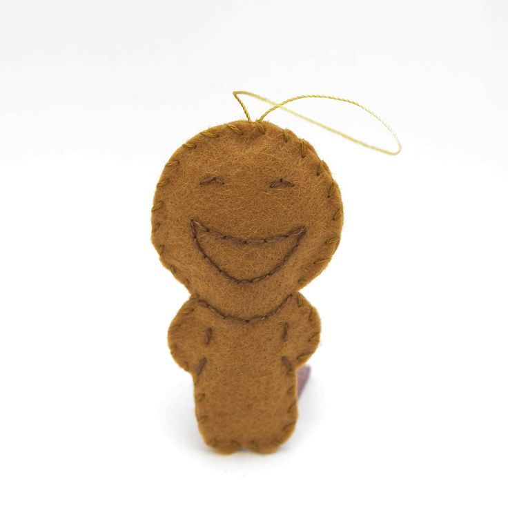 Glad gingerbread - gingerbread man, christmas decor, christmas gift, christmas decoration, cute, adorable. by HalloweenOrChristmas on Etsy