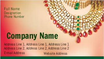 Jewellery Shop Visiting card, Business card Design for printing | Printasia.in