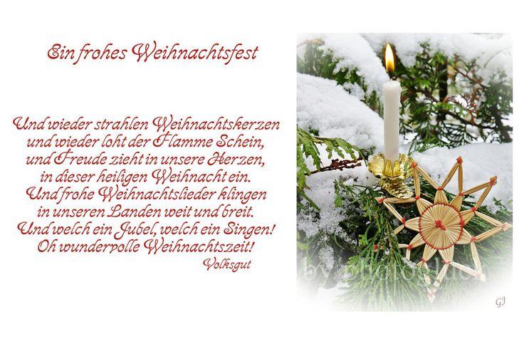 Weihnachten - Karte Weihnachten Weihnachtskarte Weihnachtszeit - ein Designerstück von Gabriele-Jentsch bei DaWanda