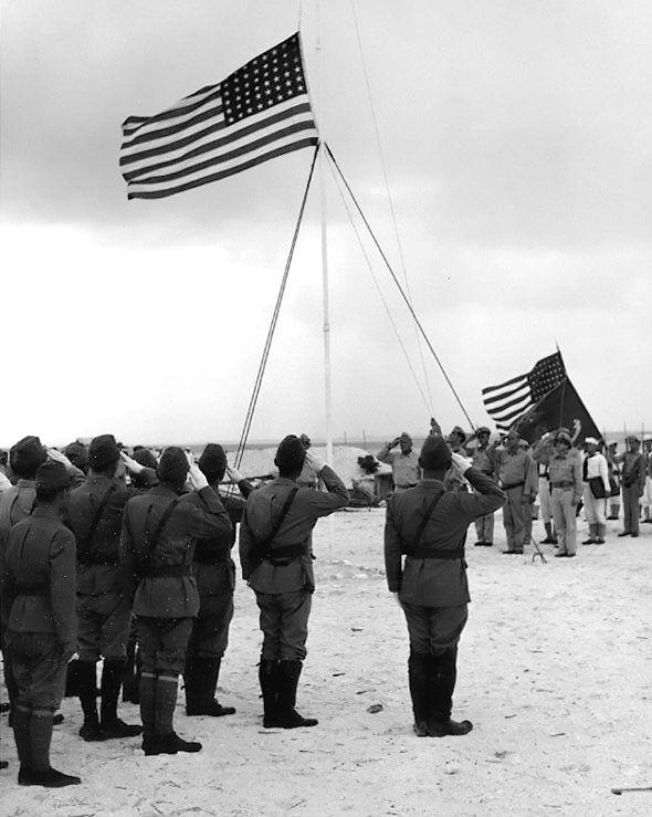 The formal surrender of the Japanese garrison on Wake Island - September 7, 1945