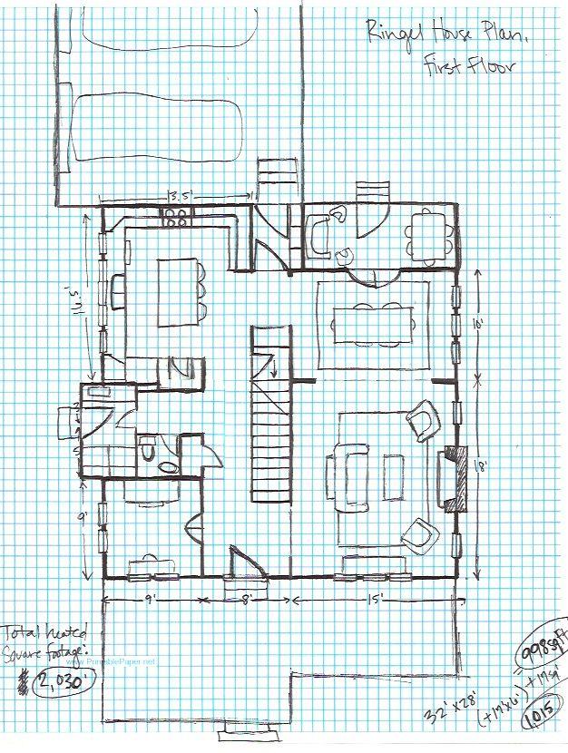 Graph paper house plans