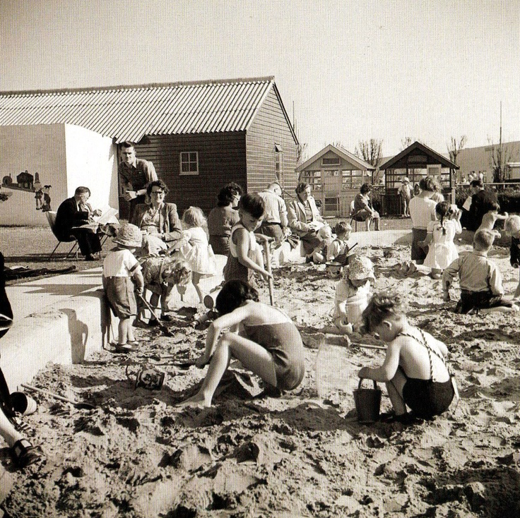 Children playing in the sand at Butlin's Holiday Camp at Skegness, England - 1 June 1948