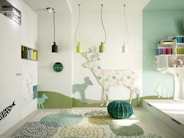 Kamar tidur anak tema binatang
