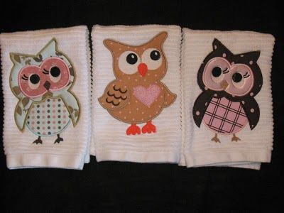 Little Owl Towels