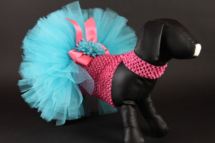 SPRING -- Miami Style DOG TUTU Dress. $55.00, via Etsy.