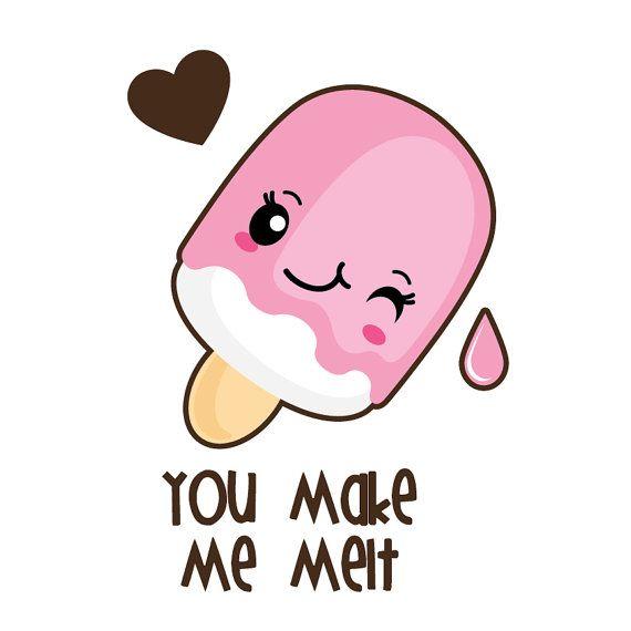 Valentine clipart, kawaii clipart, kawaii valentine clipart, cake clipart, donut clipart, valentine digital paper, Commercial