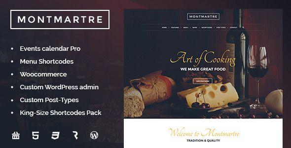 Montmartre - Cafe & Restaurant WordPress Theme