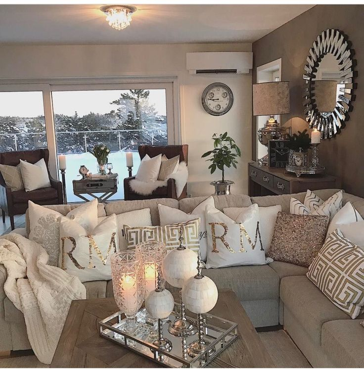 Best 25 neutral couch ideas on pinterest - Silver living room designs ...