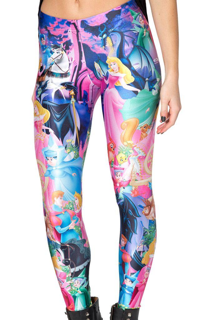 Sleeping Beauty Leggings by Black Milk Clothing $85AUD